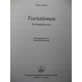 DENIS Pietro Variationen Mandoline solo