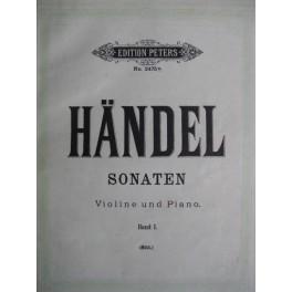 HAENDEL Georg Friedrich Sonaten Band I