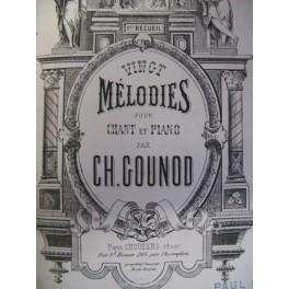 GOUNOD Charles Vingt Mélodies