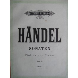 HAENDEL Georg Friedrich Sonaten Band II