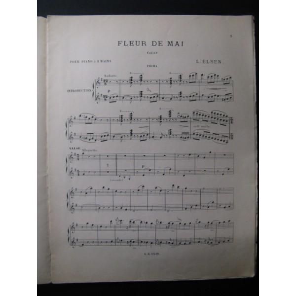 Elsen L Fleur De Mai Piano 4 Mains 1898 Partitions Anciennes Com