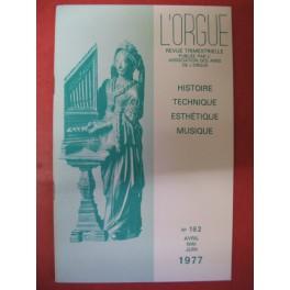 L'ORGUE Revue N° 162 Avril Juin 1977