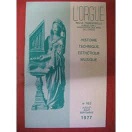 L'ORGUE Revue N° 163 Juillet Septembre 1977