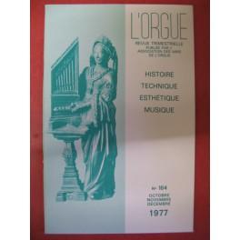 L'ORGUE Revue N° 164 Octobre Décembre 1977