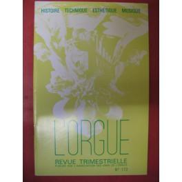L'ORGUE Revue N° 172 Octobre Décembre 1979