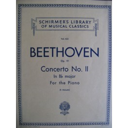 BEETHOVEN Ludwig van Concerto n° 2 op. 19 Bb Major