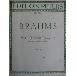 BRAHMS Johannes Sonate pour violon op. 108 D moll
