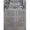 MASSENET Jules Hérodiade Air Chant Orchestre XIXe