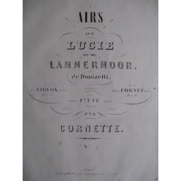 CORNETTE Victor Airs de Lucie de Donizetti