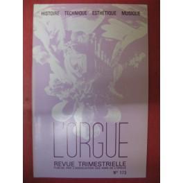 L'ORGUE Revue N° 173 Janvier-Mars 1980
