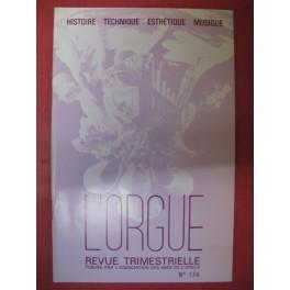 L'ORGUE Revue N° 174 Avril Juin 1980