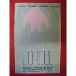L'ORGUE Revue N° 179 Juillet Septembre 1981