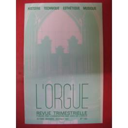 L'ORGUE Revue N° 180 Octobre Décembre 1981