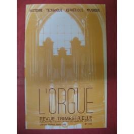 L'ORGUE Revue N° 181 Janvier Mars 1982