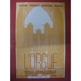 L'ORGUE Revue N° 182 Avril Juin 1982