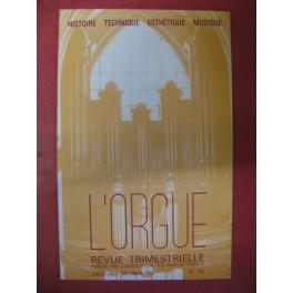L'ORGUE Revue N° 183 Juillet Septembre 1982
