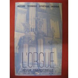 L'ORGUE Revue N° 186 Avril Juin 1983