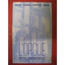L'ORGUE Revue N° 188 Octobre Décembre 1983