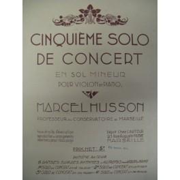 HUSSON Marcel 5ème Solo de Concert