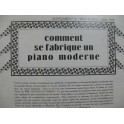 Comment se Fabrique un Piano Moderne 1928