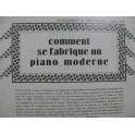Comment se Fabrique un Piano Moderne 1928