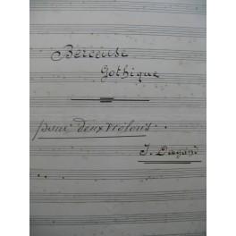 DAGAND Joseph Berceuse Gothique pour 2 Violons Manuscrit 1927