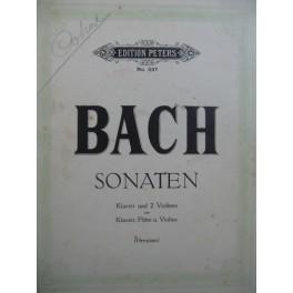 BACH J. S. Sonaten Piano 2 Violons