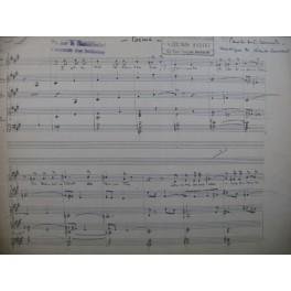 CRUSSARD Claude Poème Chant Violon Piano manuscrit 1934