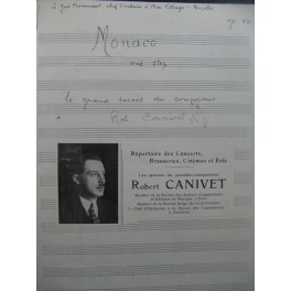 CANIVET Robert Monaco One Step Manuscrit Accordéon Piano