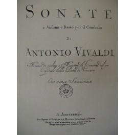 VIVALDI Antonio Sonate en La Majeur