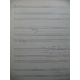 DÉRIVIS Louis Mélancolie Manuscrit Chant Piano