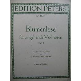 Blumenlese für angehende Violinisten Heft I Piano 2 Violons