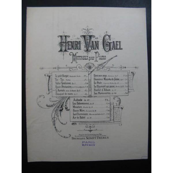 VAN GAEL Henri L'Auréole piano - Partitions-anciennes com