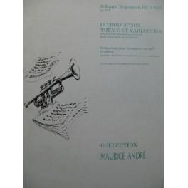 HUMMEL J. N. Introduction Thème et Variations Piano Trompette Mib 1992