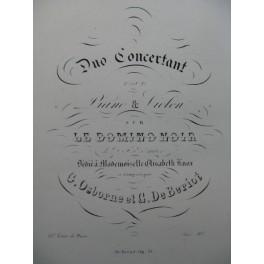 OSBORNE BÉRIOT Duo concertant Le Domino Noir Violon Piano ca1840