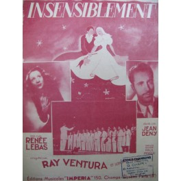 MISRAKI Paul Insensiblement Ray Ventura Chant Piano 1946