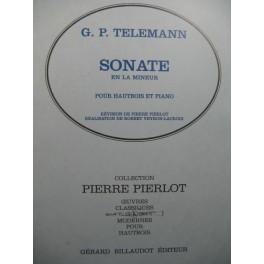 TELEMANN G. P. Sonate en La mineur Piano Hautbois