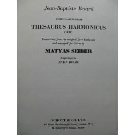 BESARD Jean-Baptiste 8 Dances from Thesaurus Harmonicus Guitare