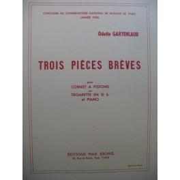 GARTENLAUB Odette Trois Pièces Brèves Piano Trompette
