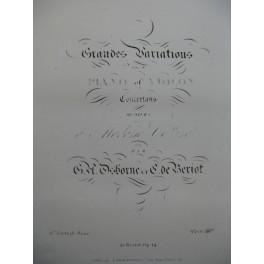 OSBORNE BÉRIOT Grandes Variations op 14 Violon Piano ca1840
