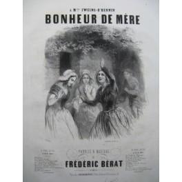 BÉRAT Frédéric Bonheur de Mère Chant Piano ca1840