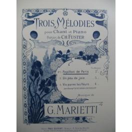 MARIETTI G. Papillon de Paris Chant Piano
