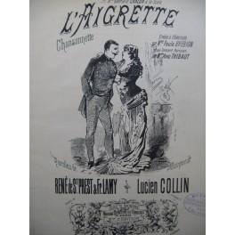 COLLIN Lucien L'Aigrette Chant Piano XIXe