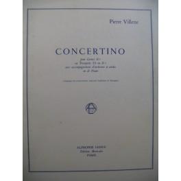 VILLETTE Pierre Concertino Cornet ou Trompette Piano 1979