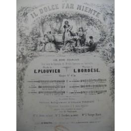 BORDÈSE Luigi Les Rosières Chant Piano ca1840