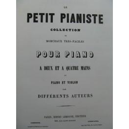 GARCIN Jules Les Cloches Idylle Piano Violon ca1855