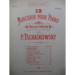 TSCHAIKOWSKY P. I. Chanson Triste Piano