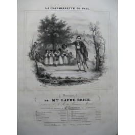 BRICE Laure La Chansonnette du Pays Chant Piano ca1830