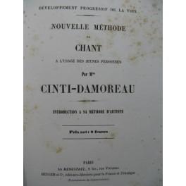 CINTI-DAMOREAU Nouvelle Méthode de Chant 1853