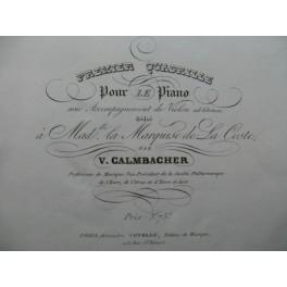 CALMBACHER V. Quadrille No 1 Piano ca1840